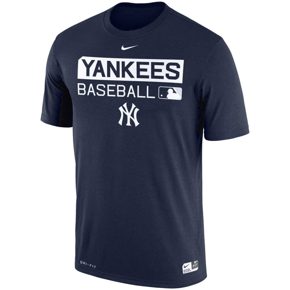 NIKE Men's New York Yankees Legend Short-Sleeve Tee - NAVY