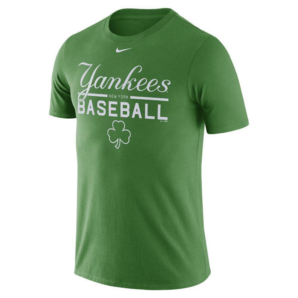 NIKE Men's New York Yankees Practice Short-Sleeve Tee - GREEN