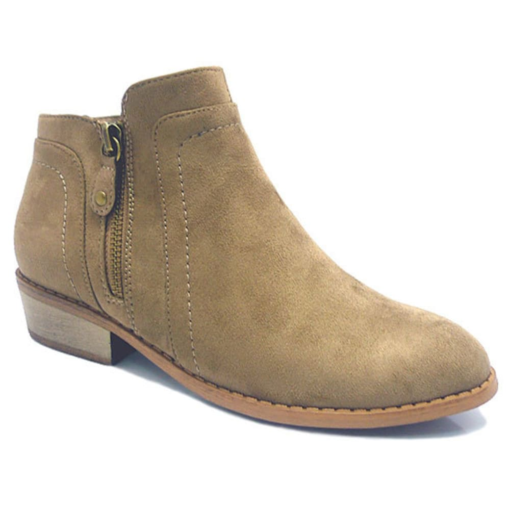 WILD DIVA Women's Mojave Ankle Boots - TAUPE