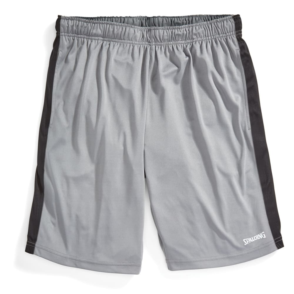 SPALDING Men's Poly Training Shorts - CONCRETE-078
