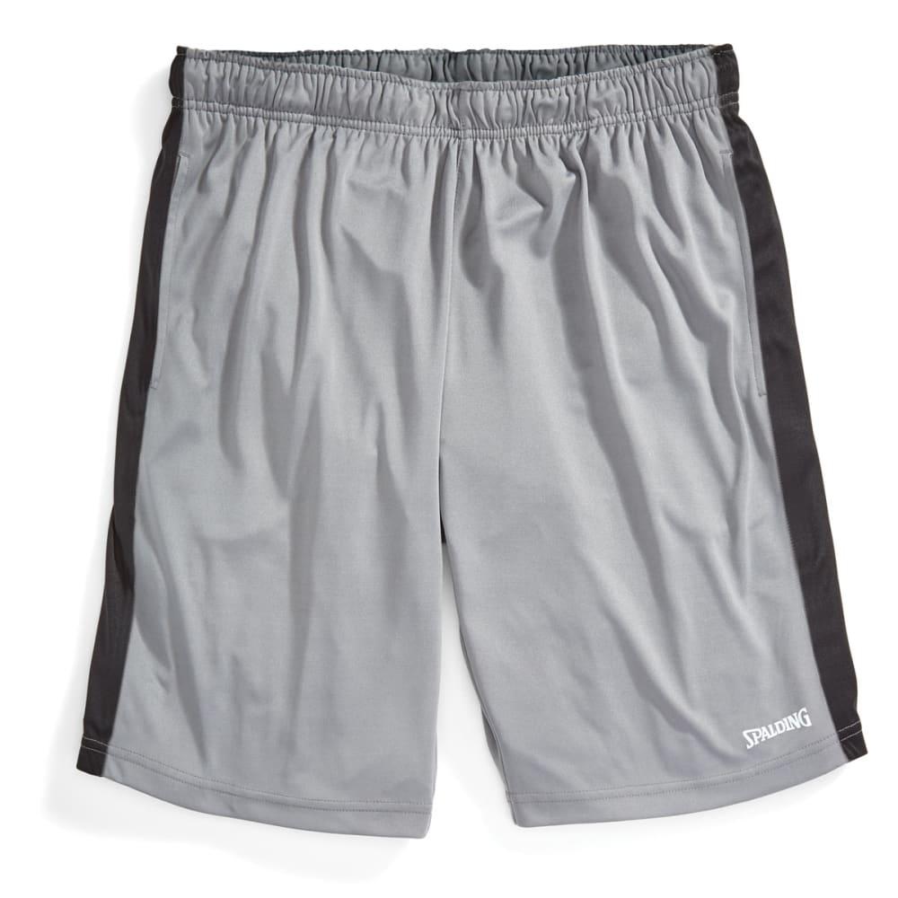 SPALDING Men's Poly Training Shorts - CONCRETE-078