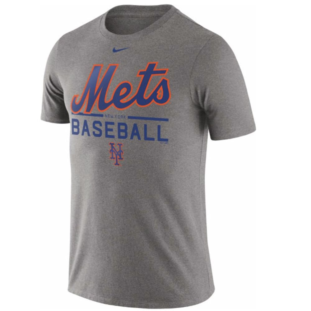 NIKE Men's New York Mets Practice Short-Sleeve Tee - GREY