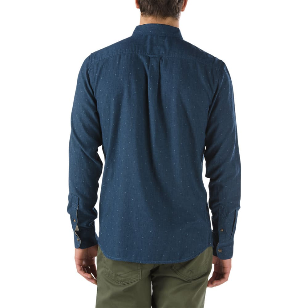 VANS Guys' Gisler Long-Sleeve Shirt - DRESS BLUES