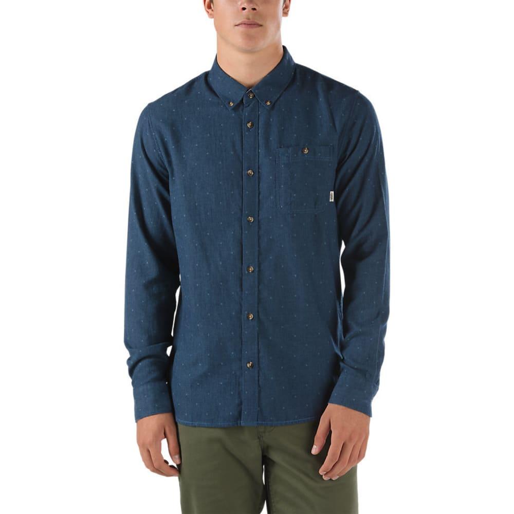 VANS Guys' Gisler Long-Sleeve Shirt - DRESS BLUES