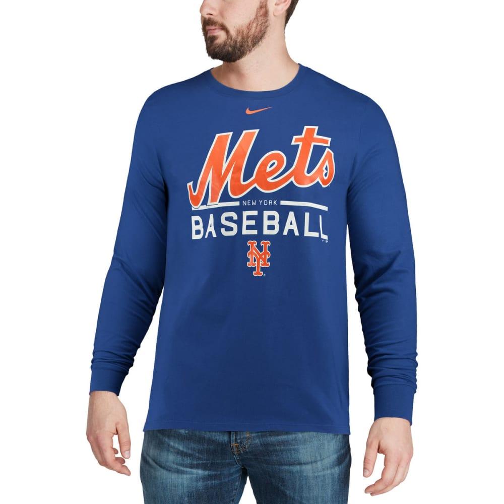 NIKE Men's New York Mets Practice Long-Sleeve Tee - ROYAL BLUE