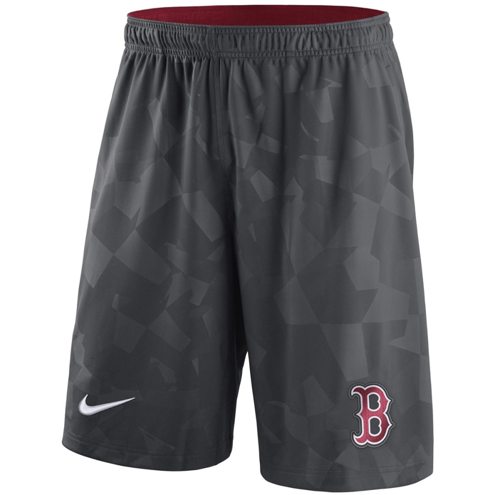 NIKE Men's Boston Red Sox GM Knit Shorts - ANTHRACITE