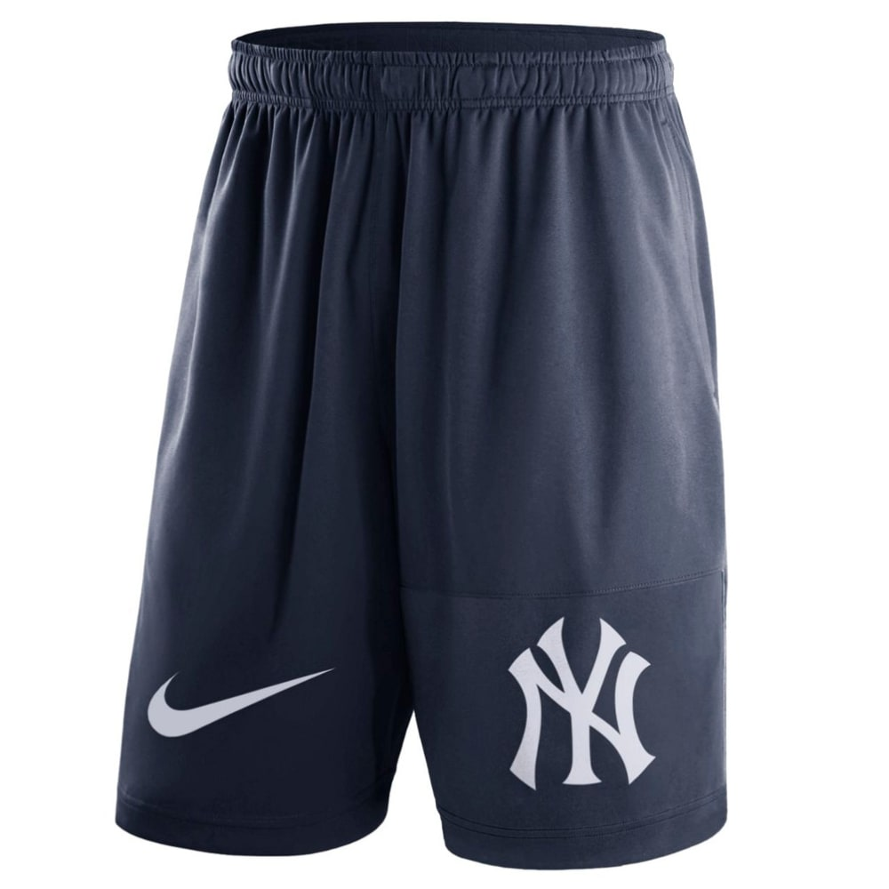 NIKE Men's 10 in. New York Yankees Dry Fly Shorts - NAVY