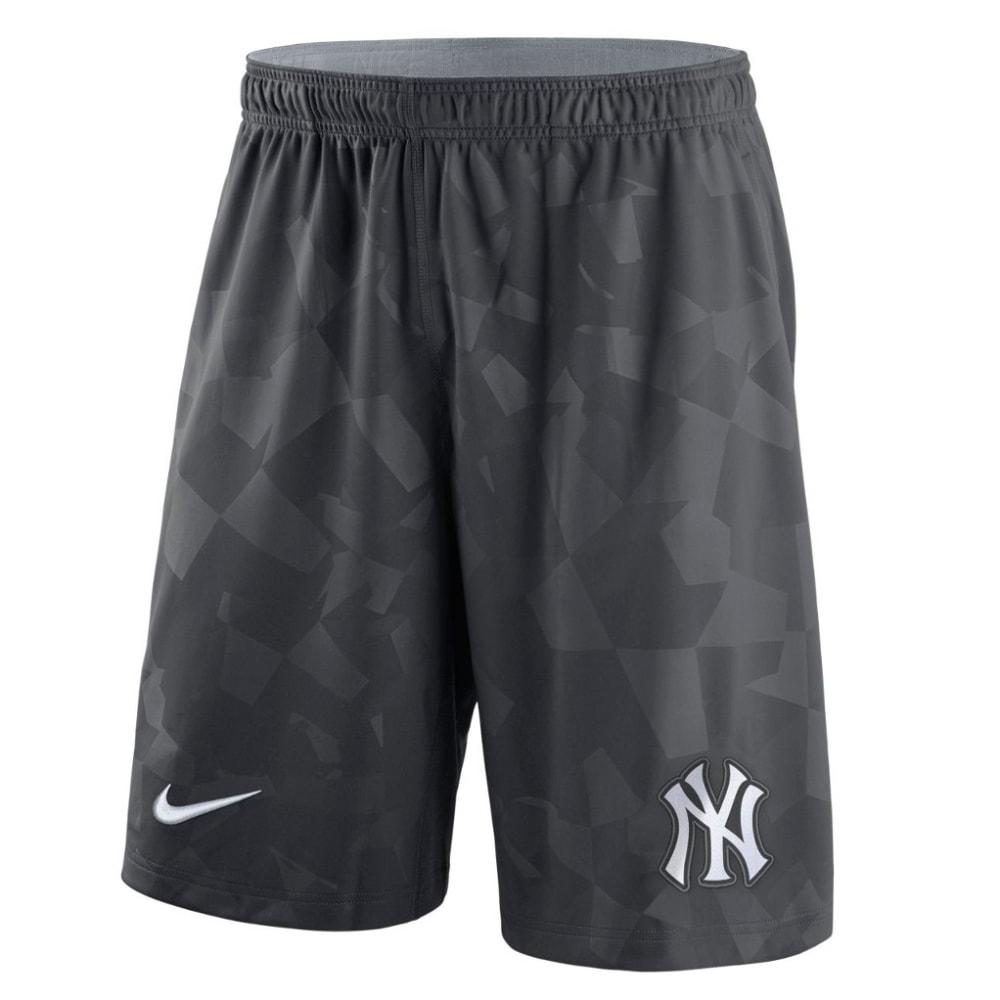 NIKE Men's New York Yankees GM Knit Shorts - ANTHRACITE