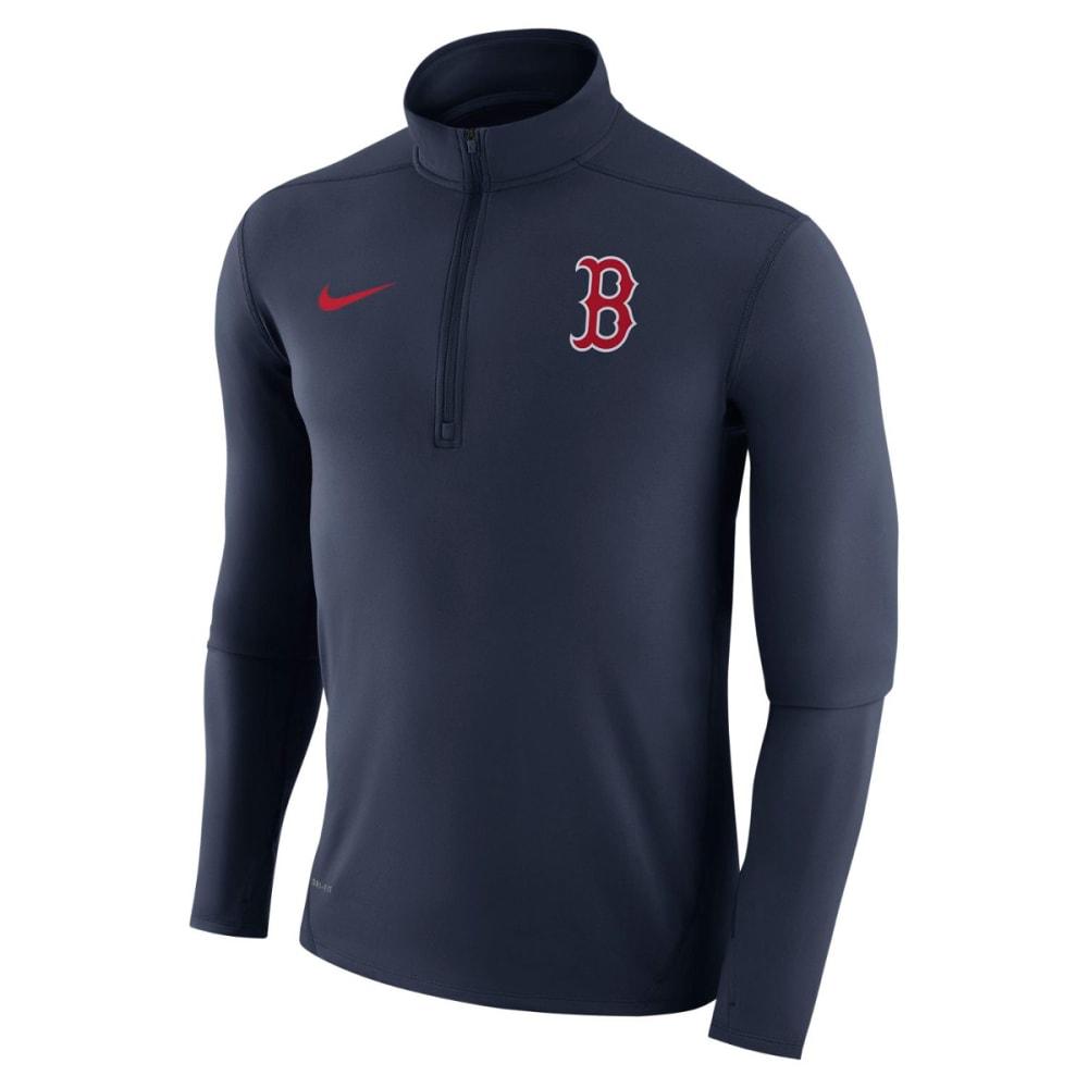 NIKE Men's Boston Red Sox Dry Element ¼-Zip Long-Sleeve Pullover - NAVY