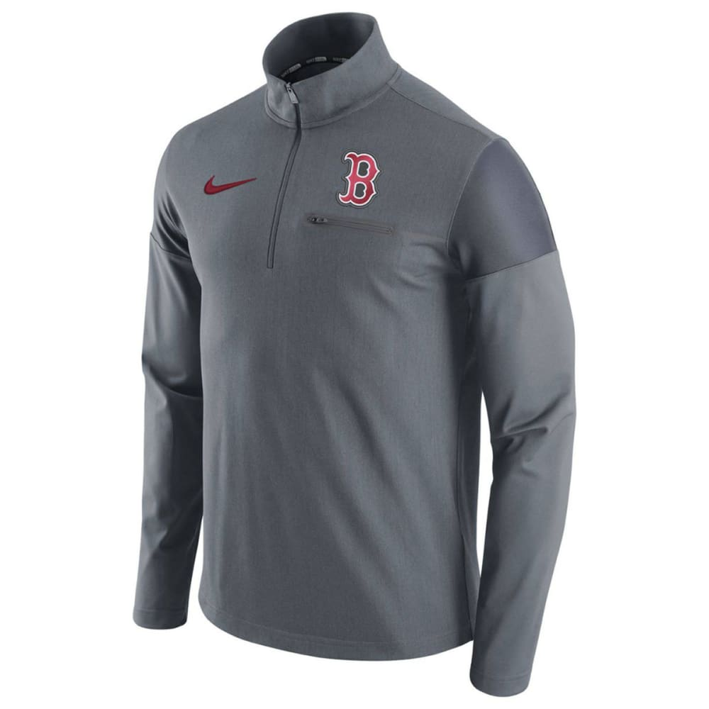 NIKE Men's Boston Red Sox Dry Elite Half Zip Pullover - GREY/NAVY