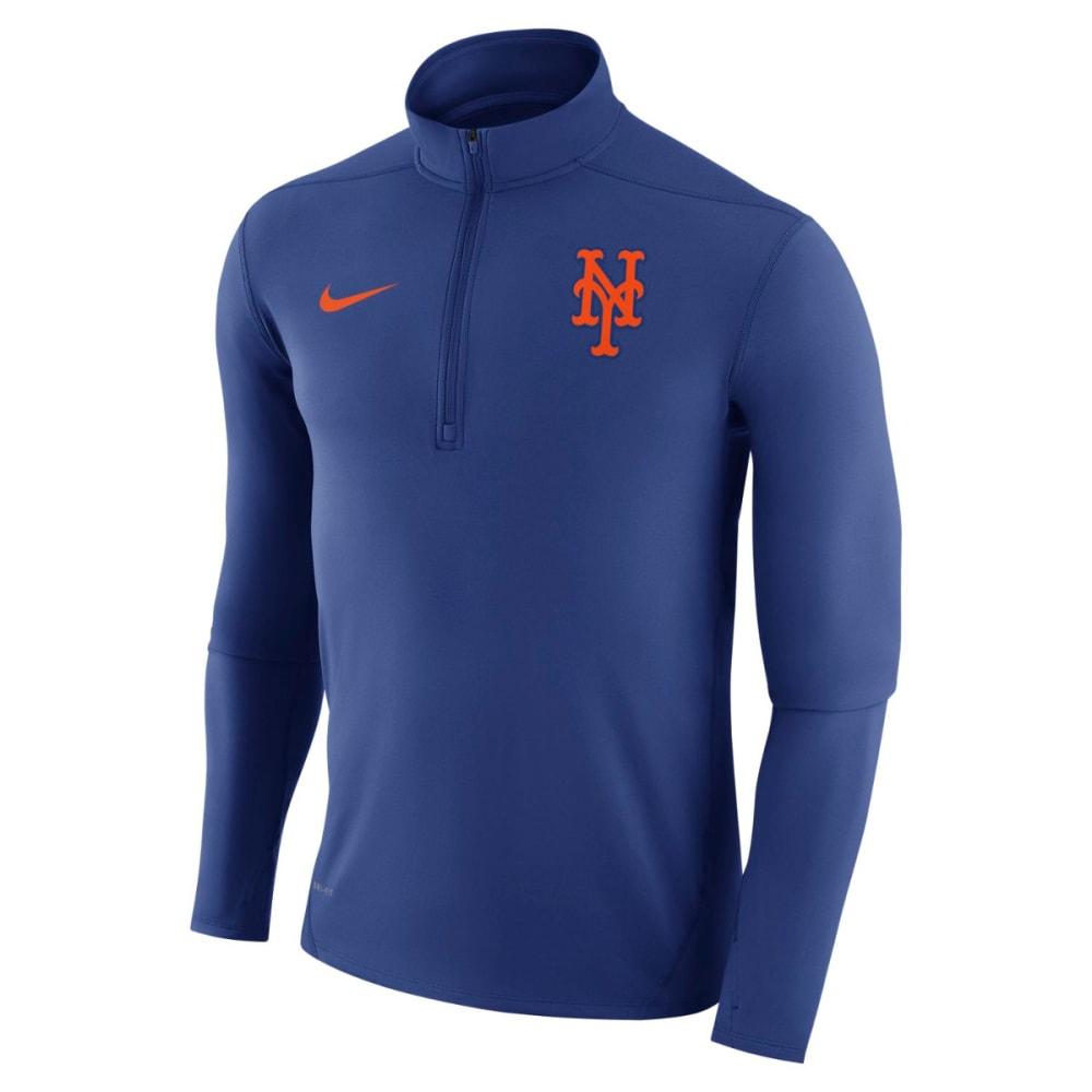 NIKE Men's New York Mets Dry Element 1/4 Zip Long-Sleeve Pullover M
