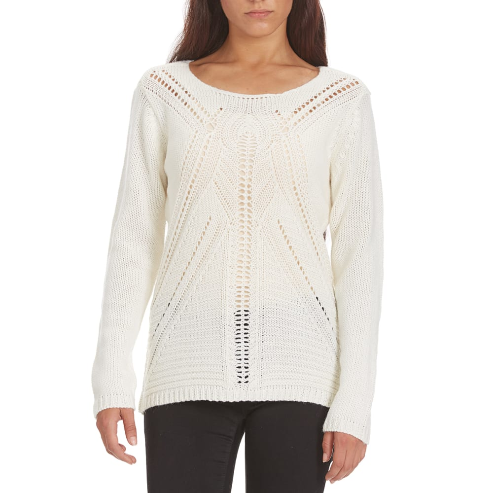 COUPE COLLECTION Women's Pointelle Sweater - CREAM