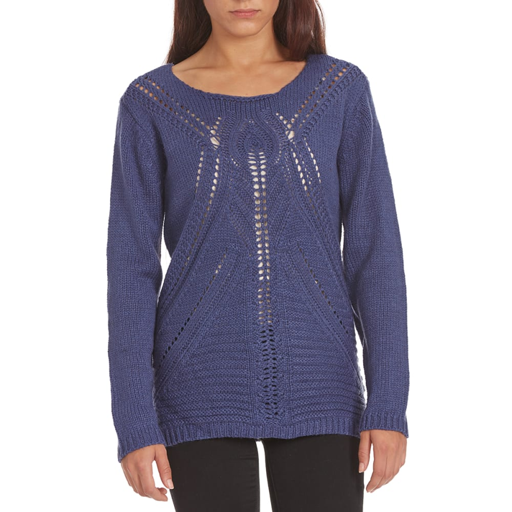 COUPE COLLECTION Women's Pointelle Sweater - INDIGO