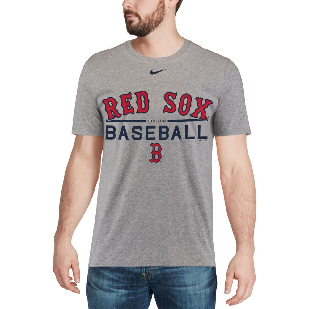 NIKE Men's Boston Red Sox Practice Short-Sleeve Tee - GREY