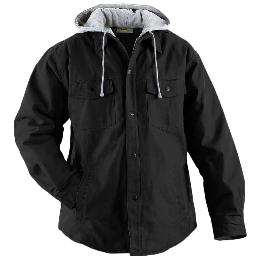UTILITY PRO WEAR Men's Teflon-Coated Quilt-Lined Hooded Shirt Jacket - BLACK