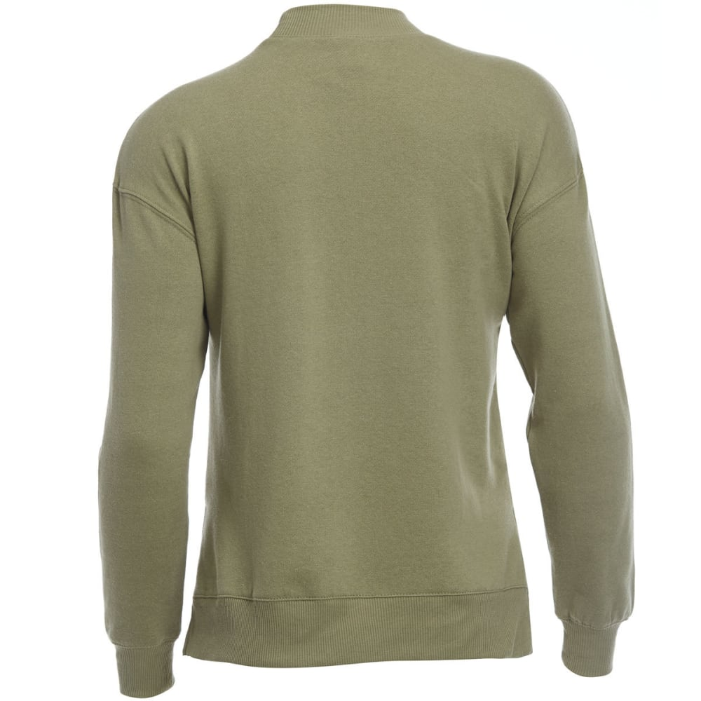 HYBRID Juniors' Badge Pullover Fleece Sweatshirt - P343-OLIVE