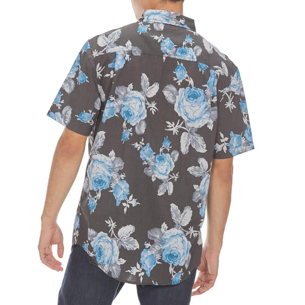 RETROFIT Guys' Floral Short-Sleeve Shirt - BLACK HEATHER