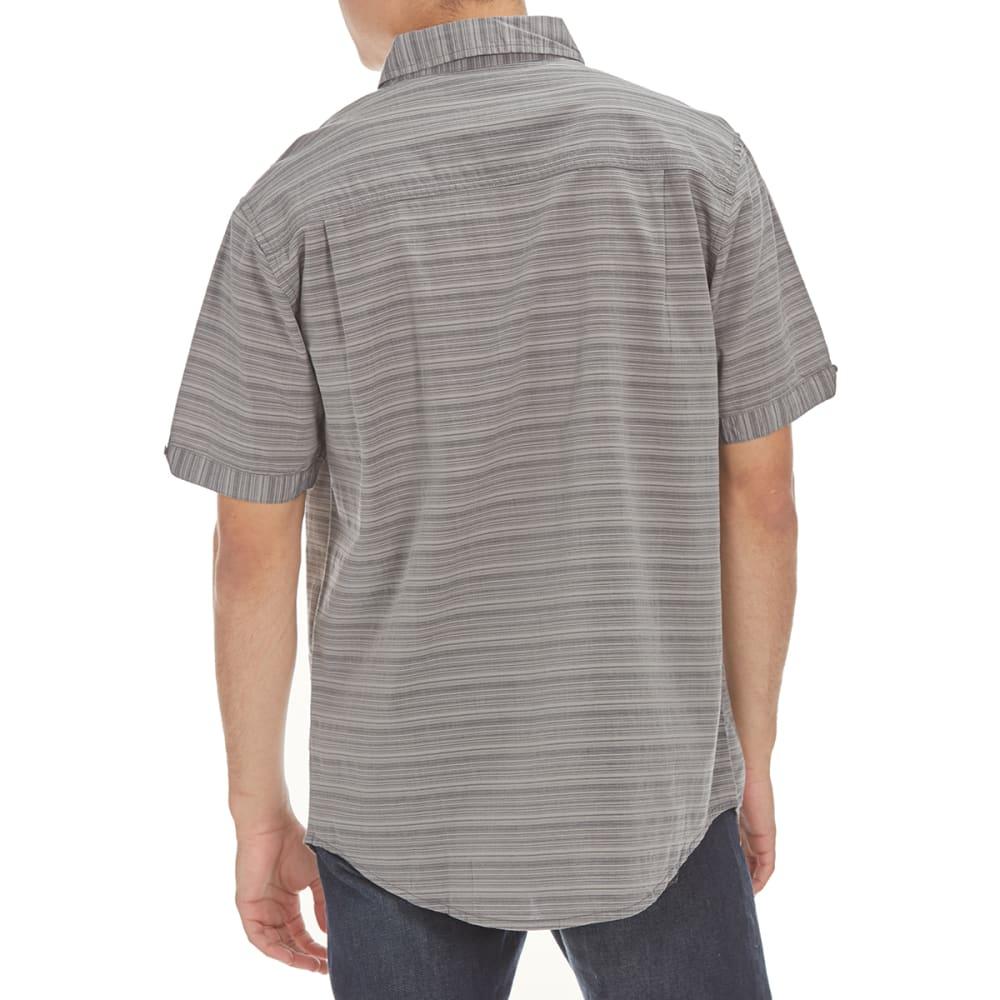 RETROFIT Guys' Horizontal Striped Short-Sleeve Shirt - BLUE GREY
