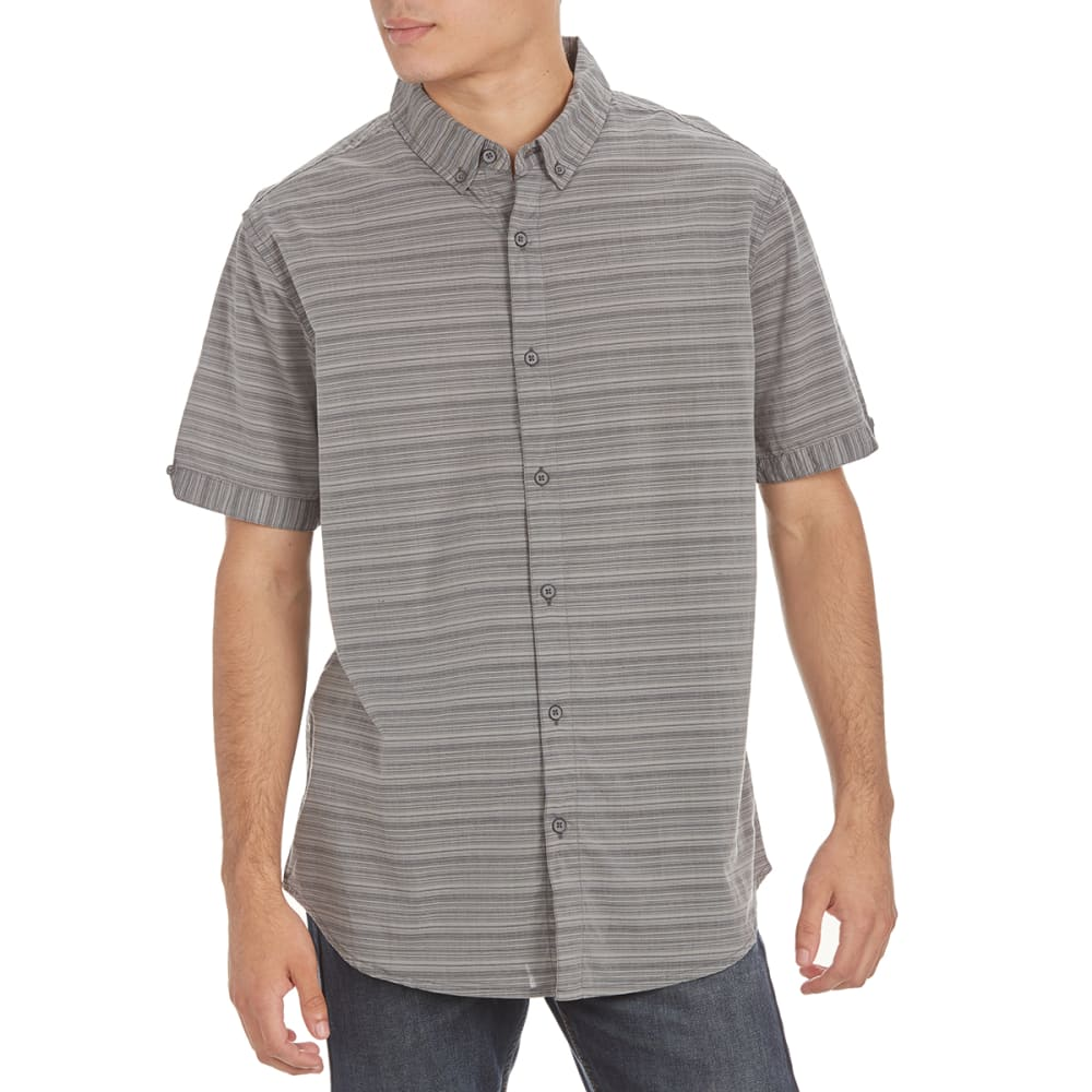 RETROFIT Guys' Horizontal Striped Short-Sleeve Shirt - BLUE GREY