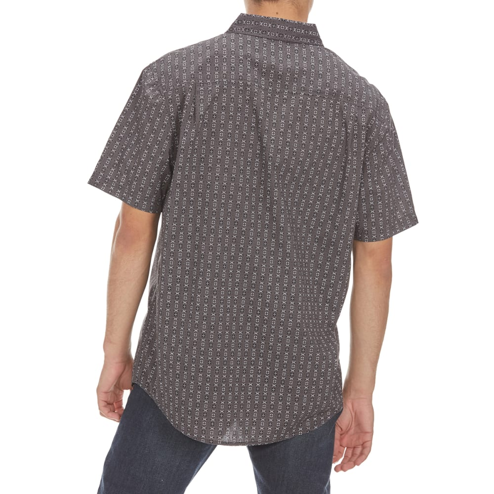 RETROFIT Guys' All-Over Print Short-Sleeve Shirt - DK CHAR HEATHER