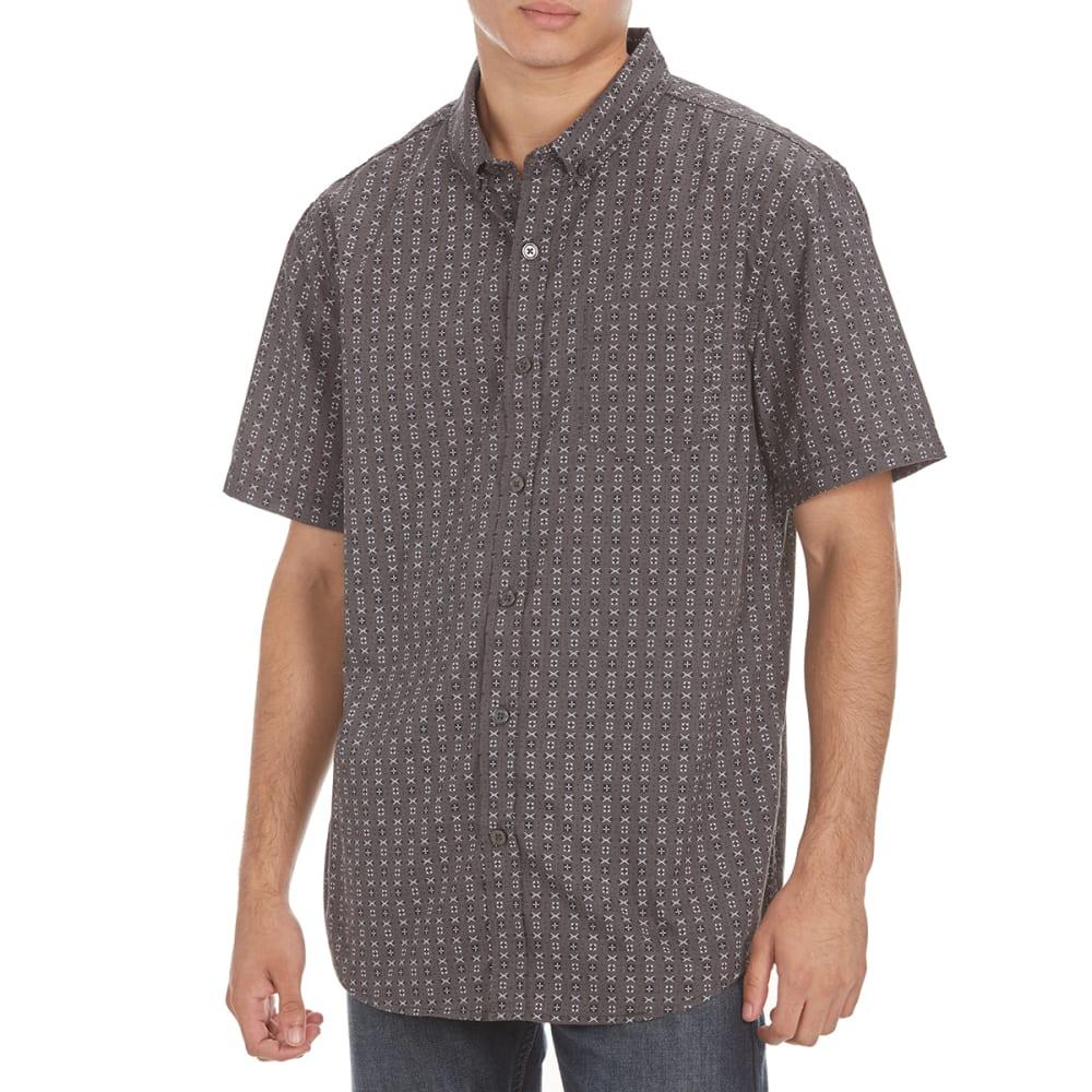 RETROFIT Guys' All-Over Print Short-Sleeve Shirt - DK CHAR HEATHER