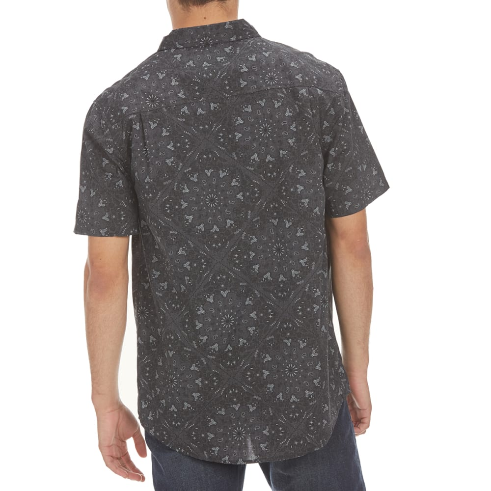 RETROFIT Guys' All-Over Print Short-Sleeve Shirt - BLACK HEATHER