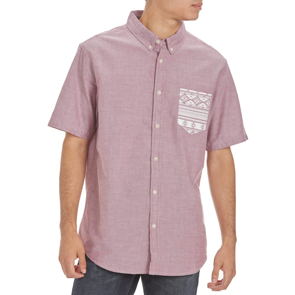 RETROFIT Guys' Navajo Pocket Oxford Shirt - BORDEAUX