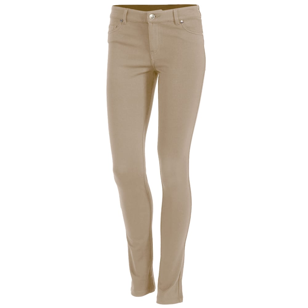 SHINESTAR Juniors' Five-Pocket Ponte Pants - KHAKI