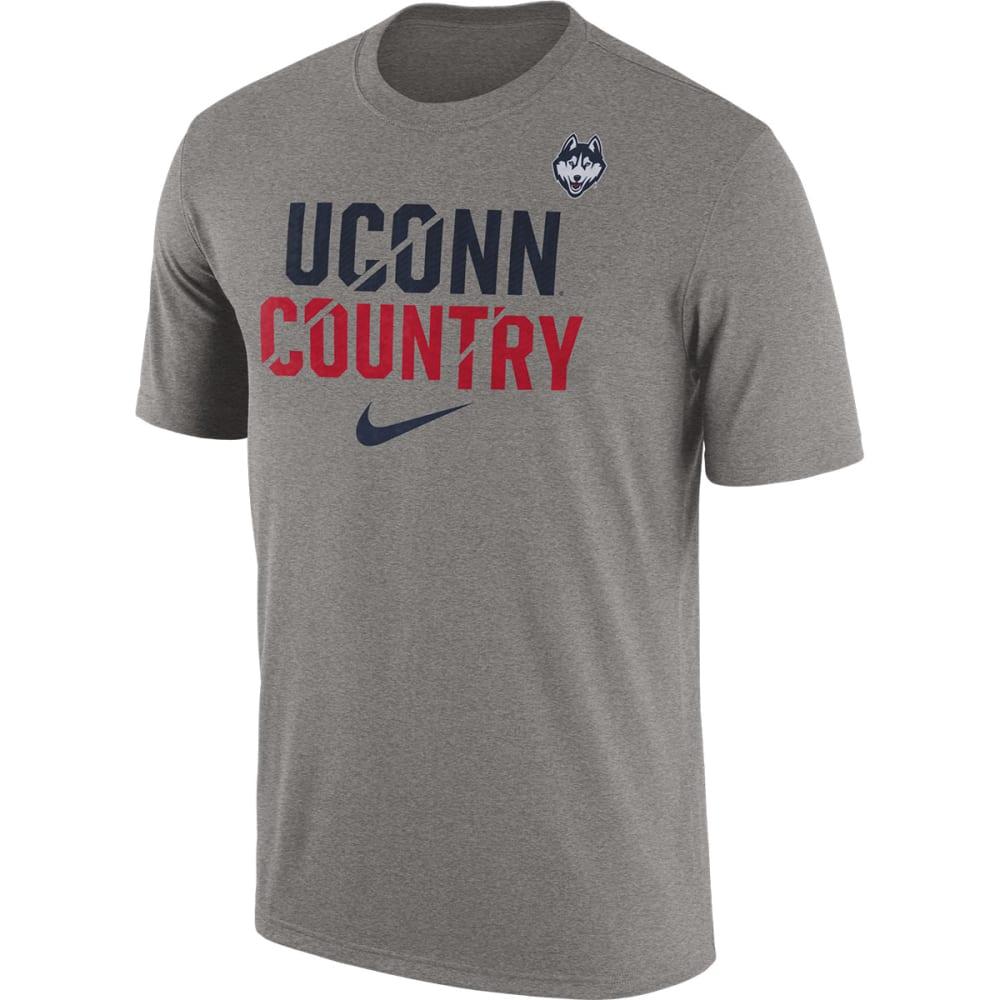 UCONN Men's Nike Legend Local Verb Short Sleeve Tee - GREY