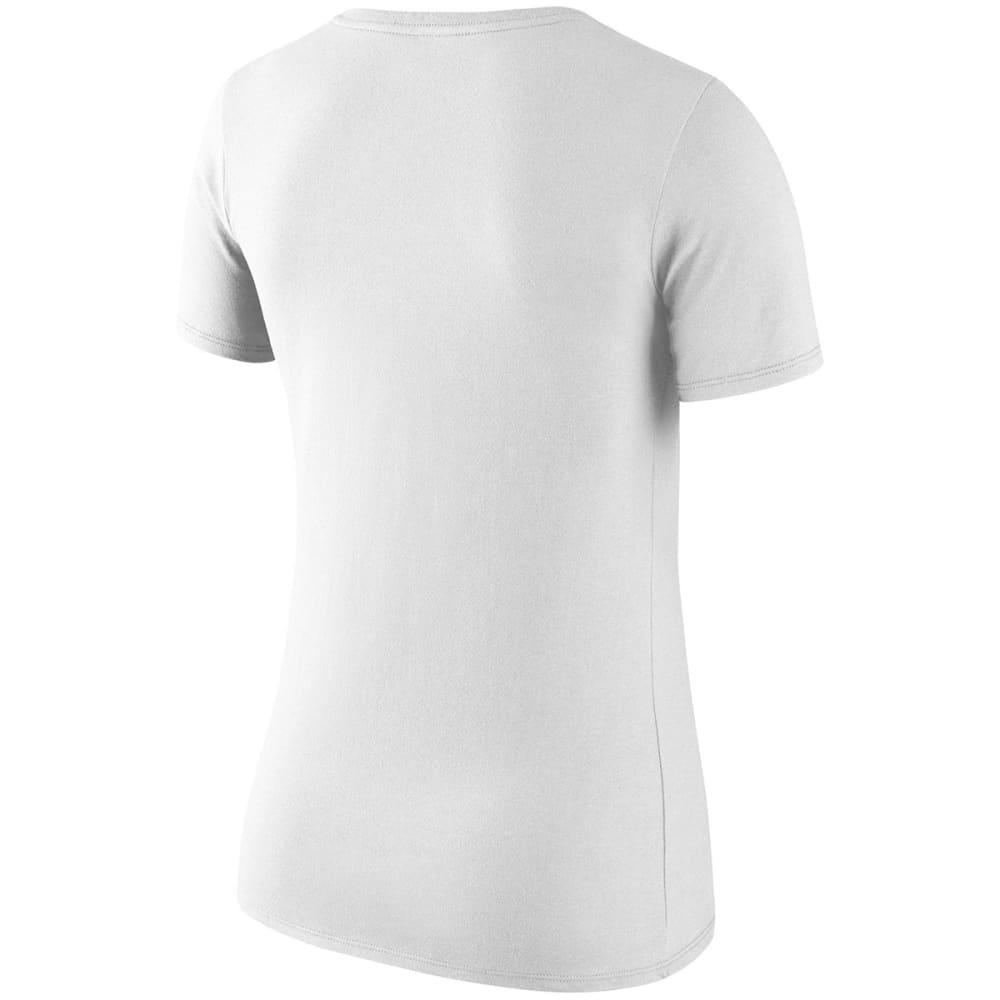 NIKE Women's Boston Red Sox Logo Scoop Short-Sleeve Tee - WHITE