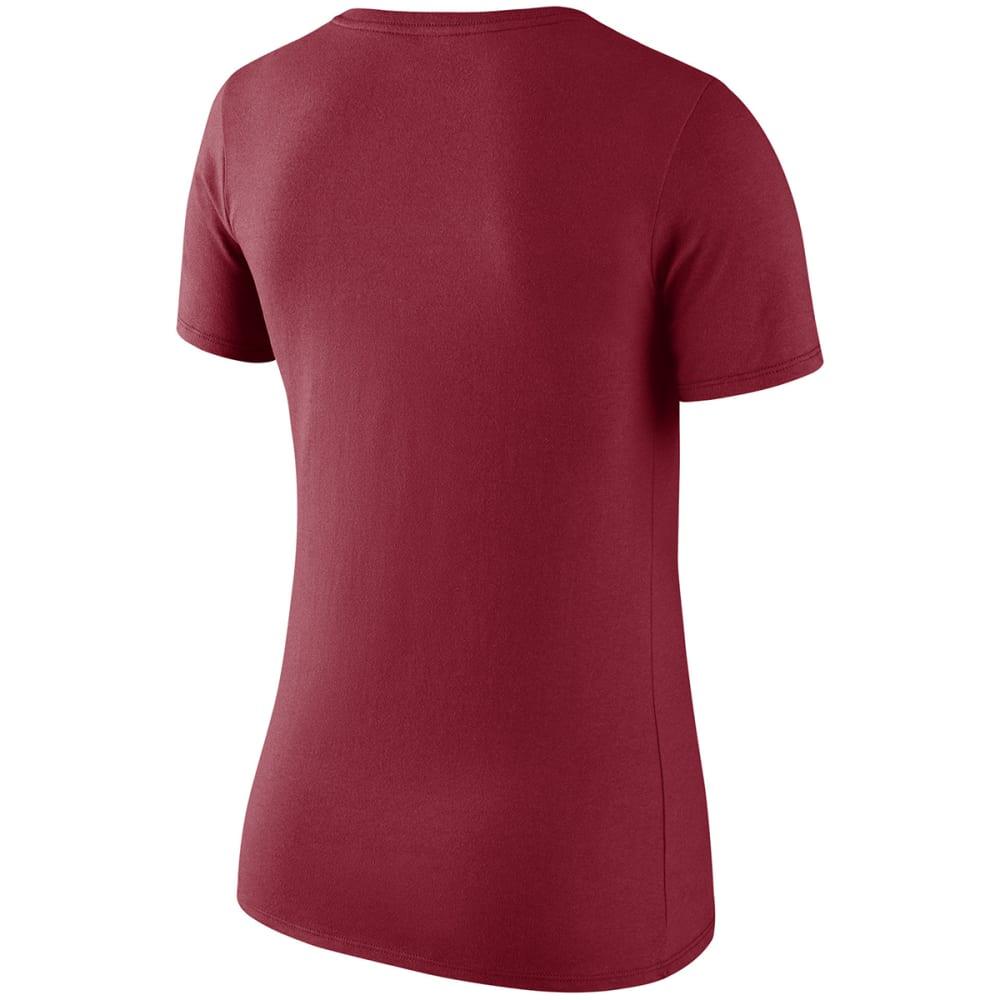 NIKE Women's Boston Red Sox Logo Scoop Short-Sleeve Tee - RED