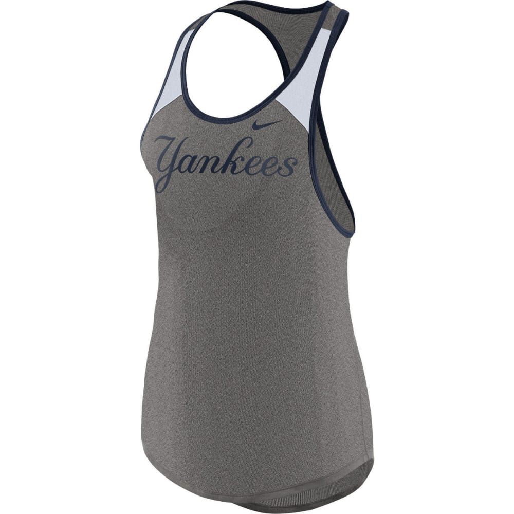 NIKE Women's New York Yankees Legend Wordmark Racerback Tank Top - GREY