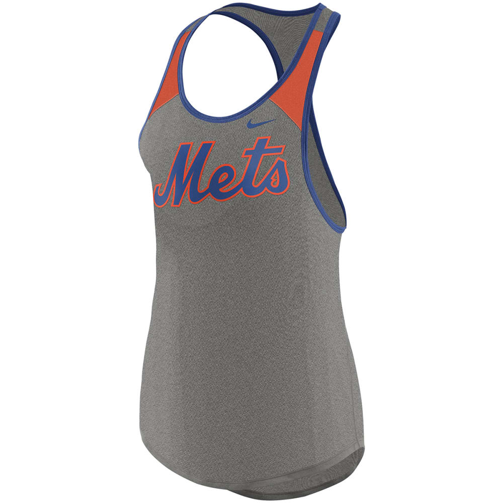 NIKE Women's New York Mets Legend Wordmark Racerback Tank Top - GREY