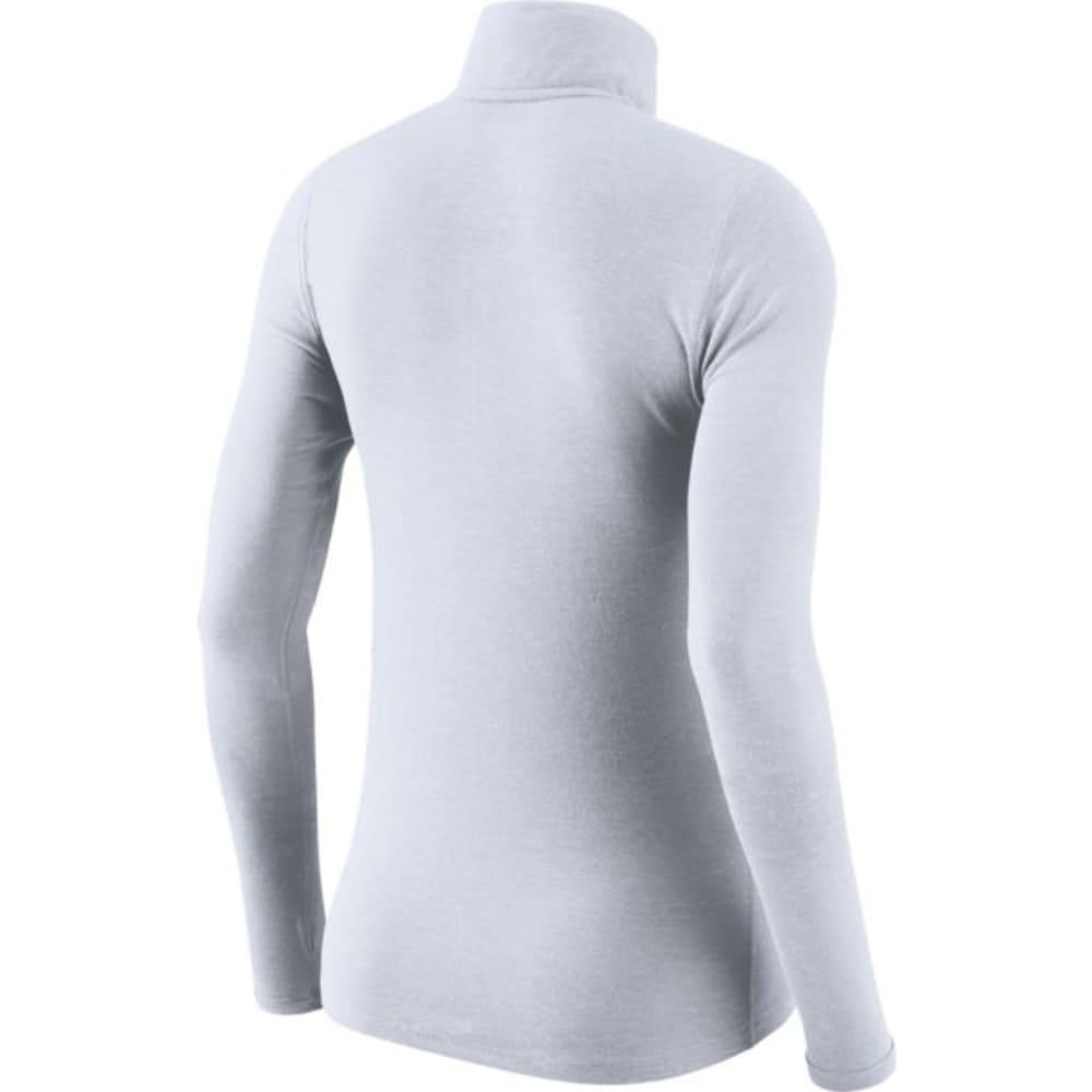 NIKE Women's Boston Red Sox Dry Element ¼-Zip Long-Sleeve Top - WHITE