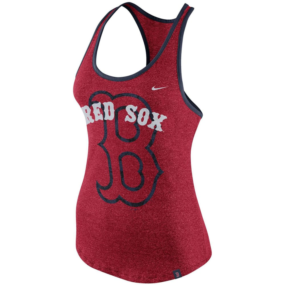 NIKE Women's Boston Red Sox Marled Racerback Tank Top - RED
