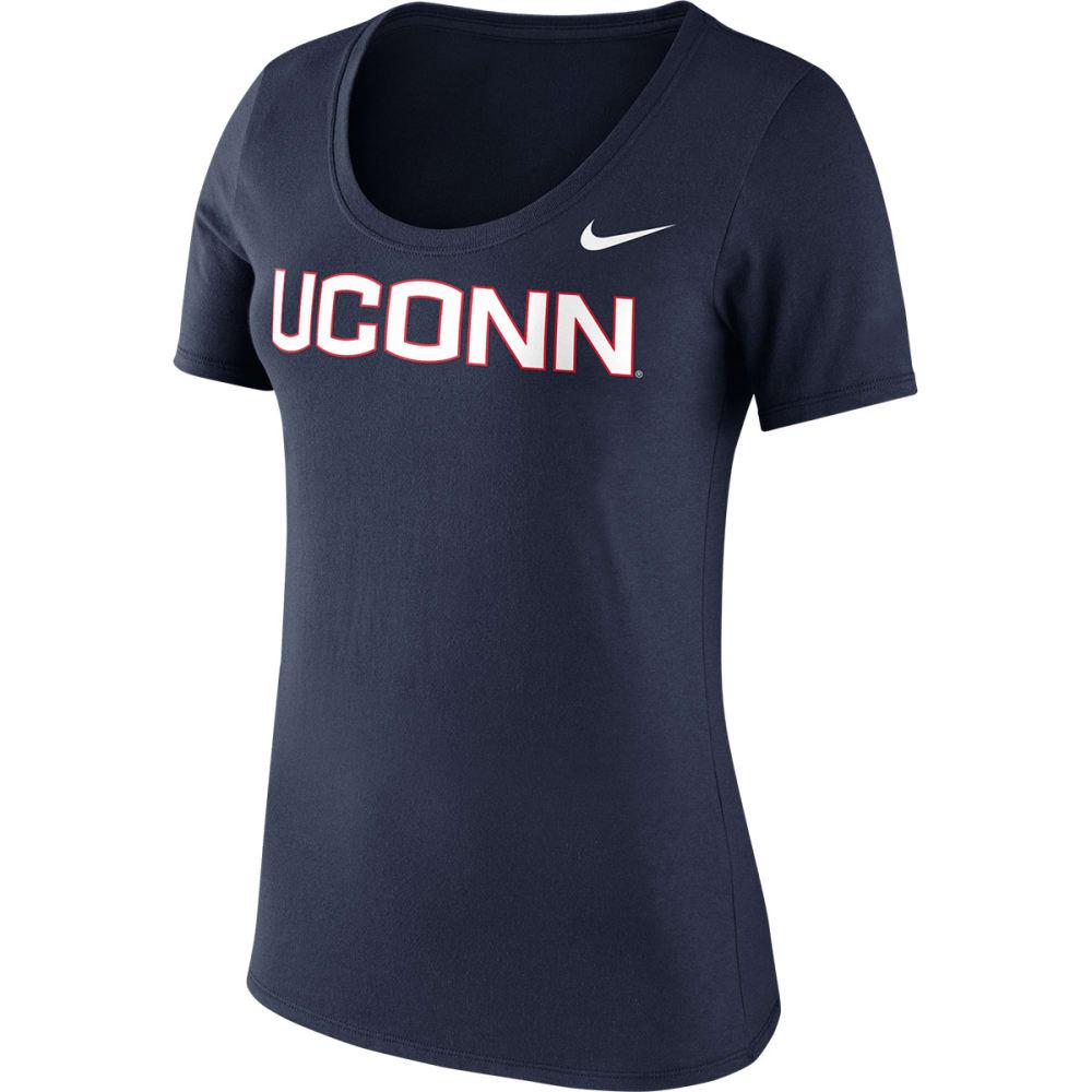 UCONN Women's Nike Logo Scoop Neck Short Sleeve Tee - NAVY