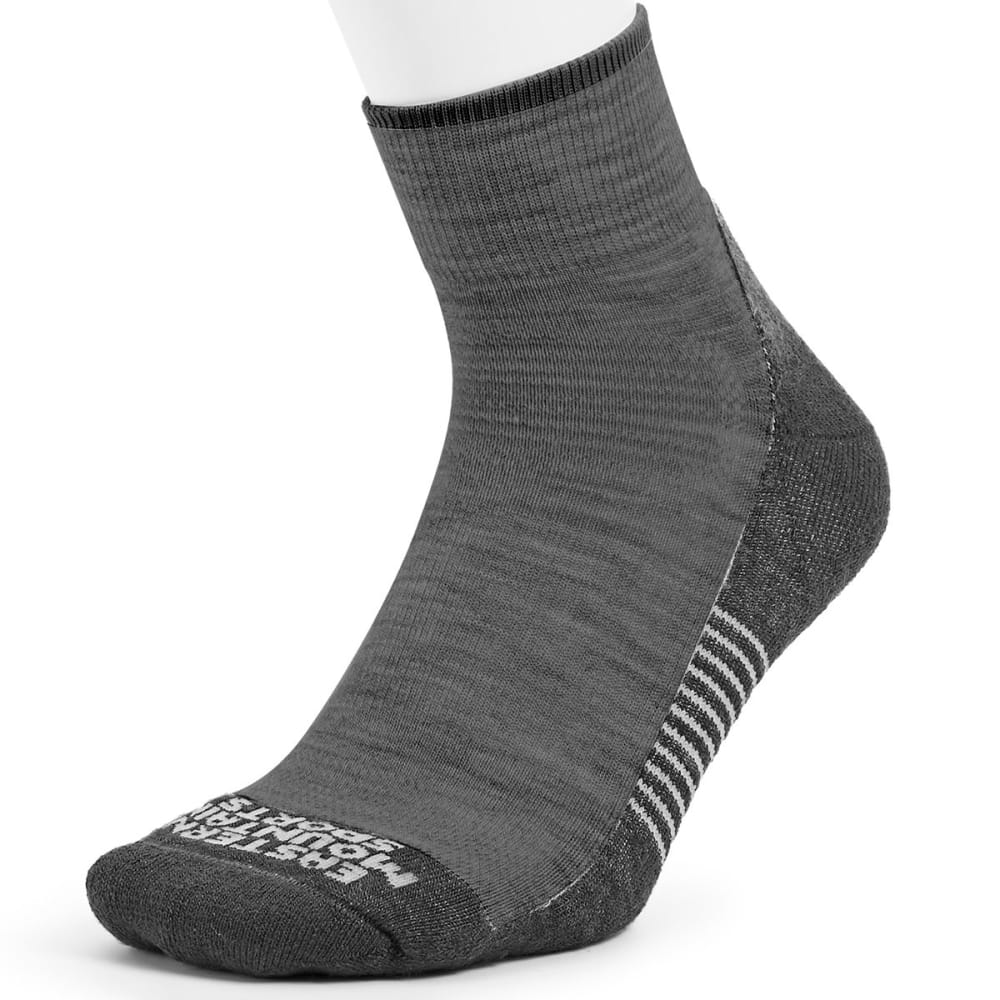 EMS® Men's Track Lite Quarter Socks - EBONY 07078