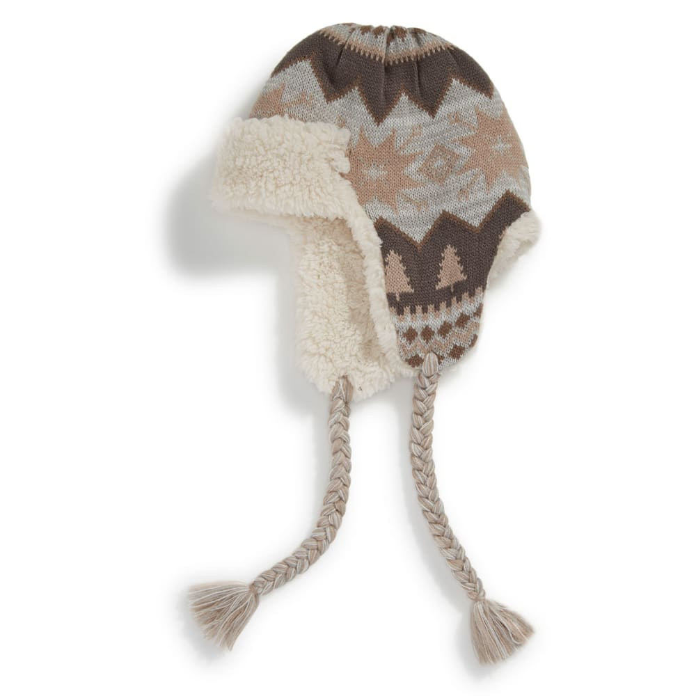 MUK LUKS Women's Traditional Marled Nordic Trapper Hat - TRADITIONAL NORDIC