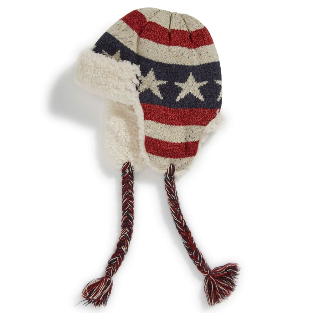 MUK LUKS Women's Old Glory Trapper Hat ONE SIZE