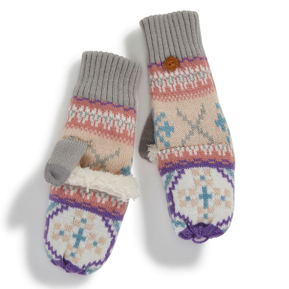 MUK LUKS Women's X Fair Isle Flip-Top Gloves - X FAIRISLE