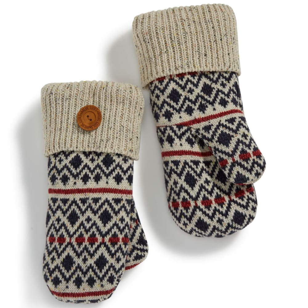 MUK LUKS Women's Diamond Fair Isle Potholder Mittens - DIAMOND FAIRISLE