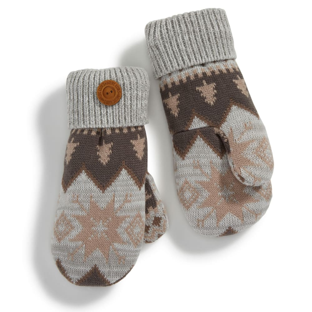 MUK LUKS Women's Traditional Marled Nordic Potholder Mittens - TRADITIONAL NORDIC