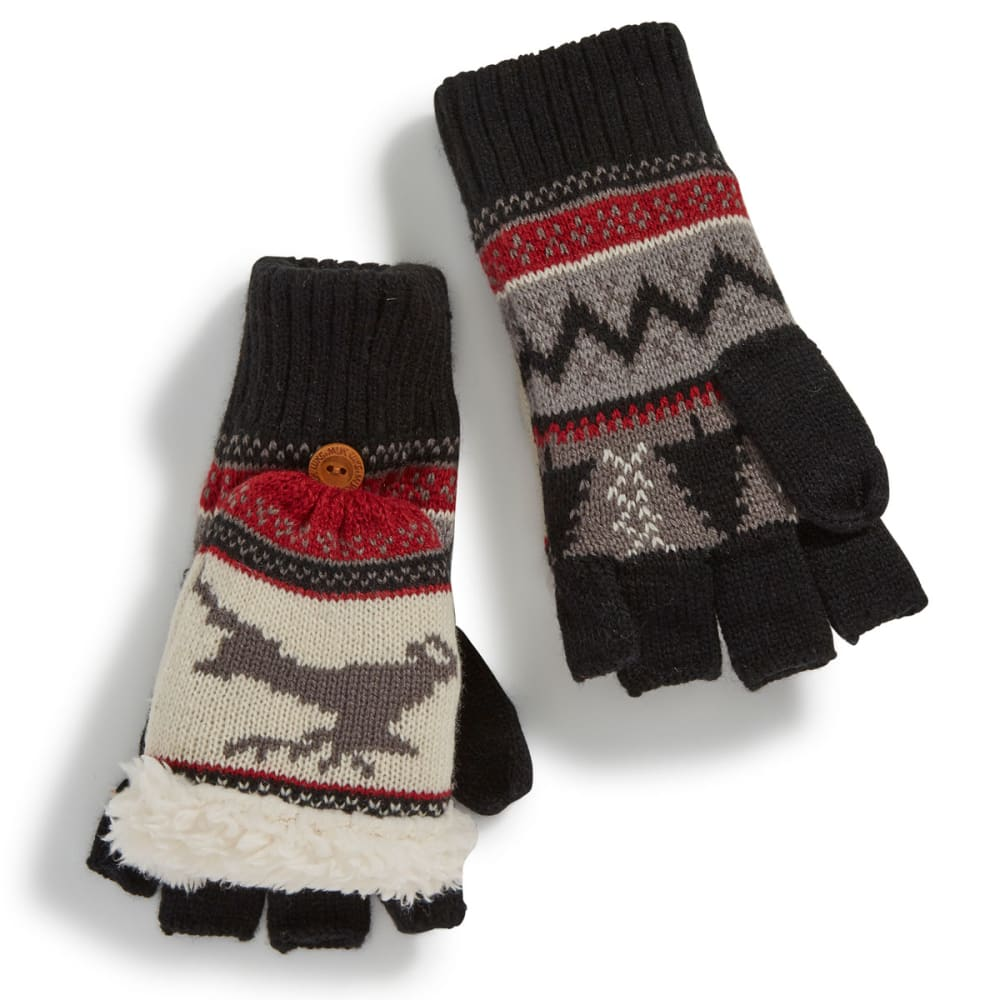 MUK LUKS Women's Deer Nordic Flip-Top Gloves - DEER NORDIC