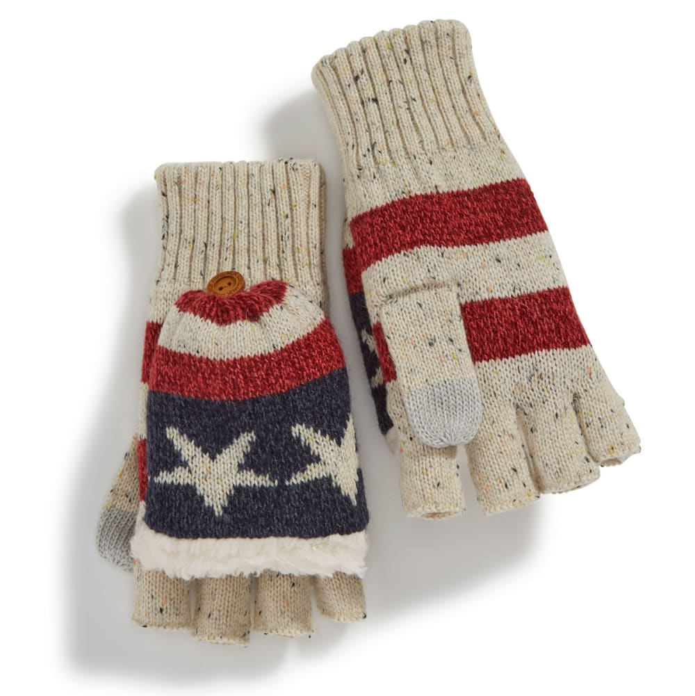 MUK LUKS Women's Old Glory Flip-Top Mittens - OLD GLORY