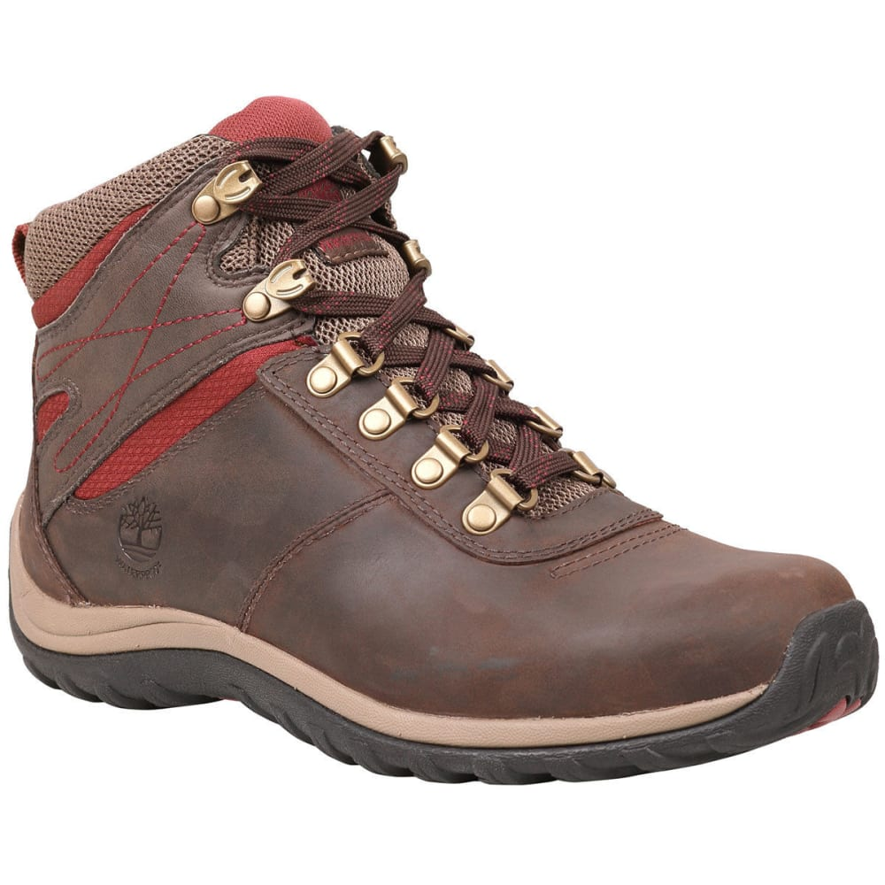 TIMBERLAND Women's Norwood Mid Waterproof Hiking Boots, Dark Brown Full Grain - DARK BROWN