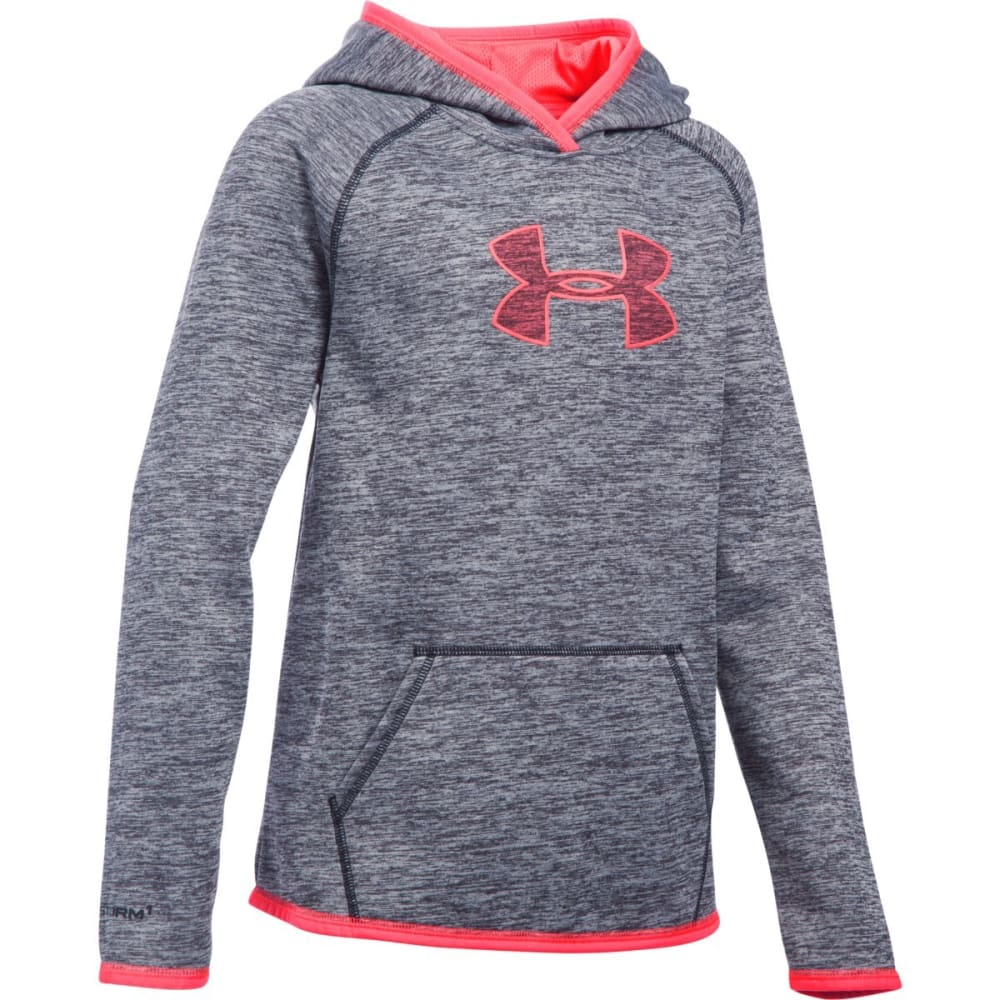 UNDER ARMOUR Girls' AF Mid Logo Hoodie - BLACK-001