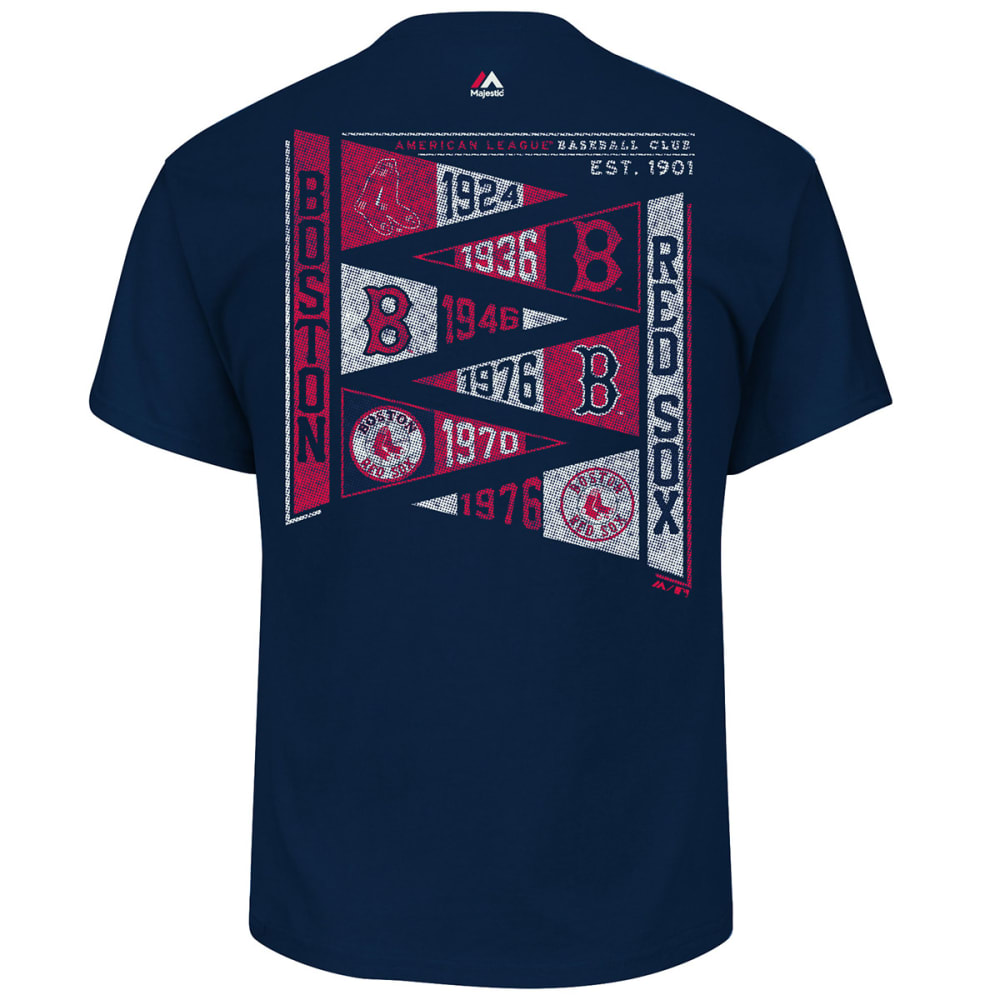 BOSTON RED SOX Men's Raise the Pennant Short-Sleeve Tee - NAVY