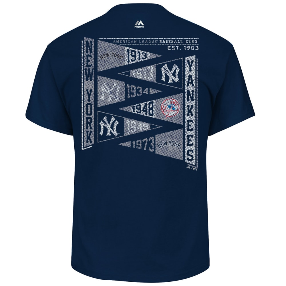 NEW YORK YANKEES Men's Raise the Pennant Short-Sleeve Tee - NAVY