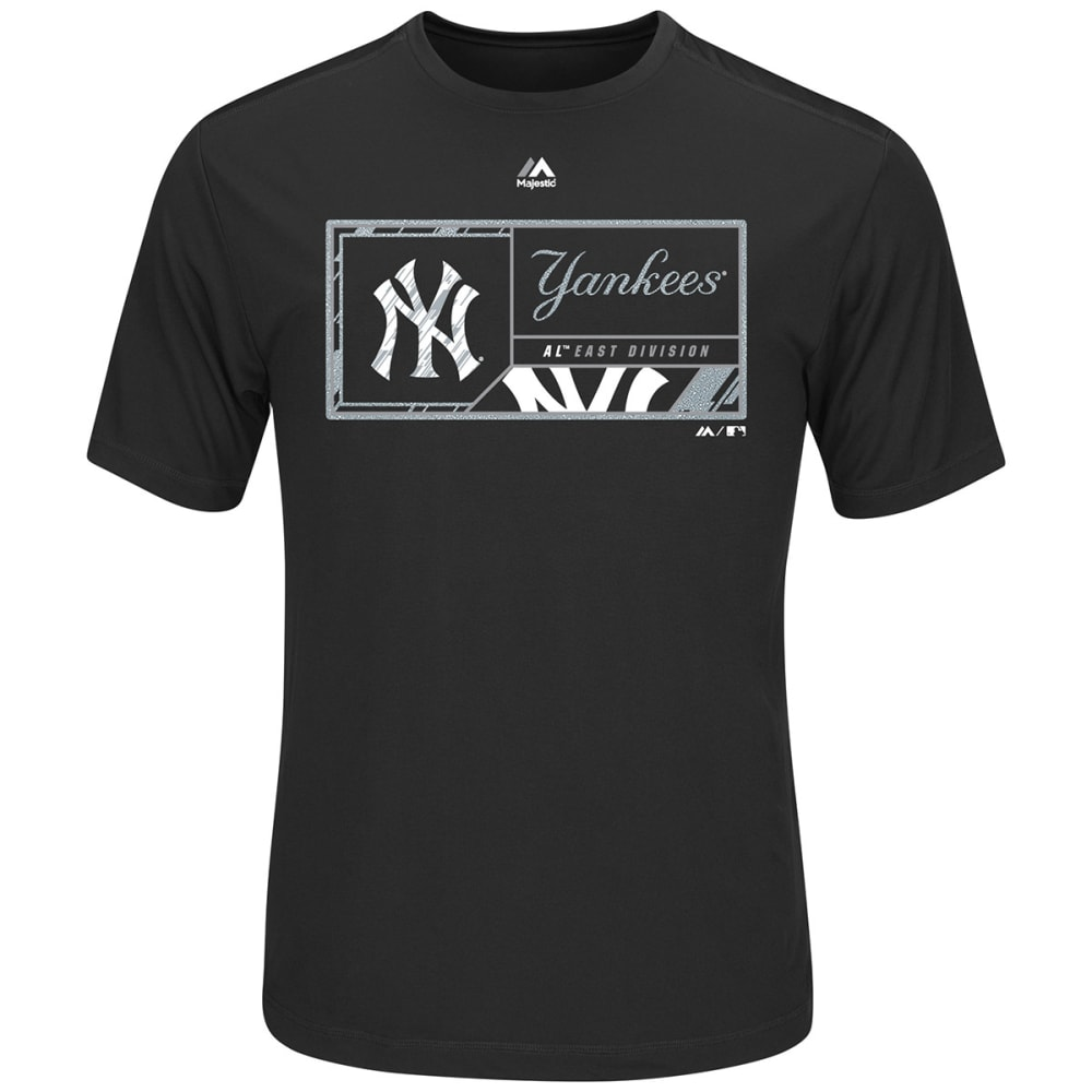 NEW YORK YANKEES Men's Division Dominator Synthetic Short-Sleeve Tee - BLACK