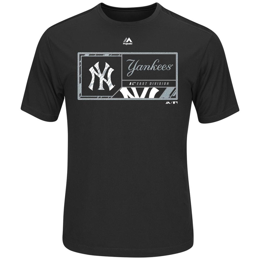NEW YORK YANKEES Men's Division Dominator Synthetic Short-Sleeve Tee - BLACK